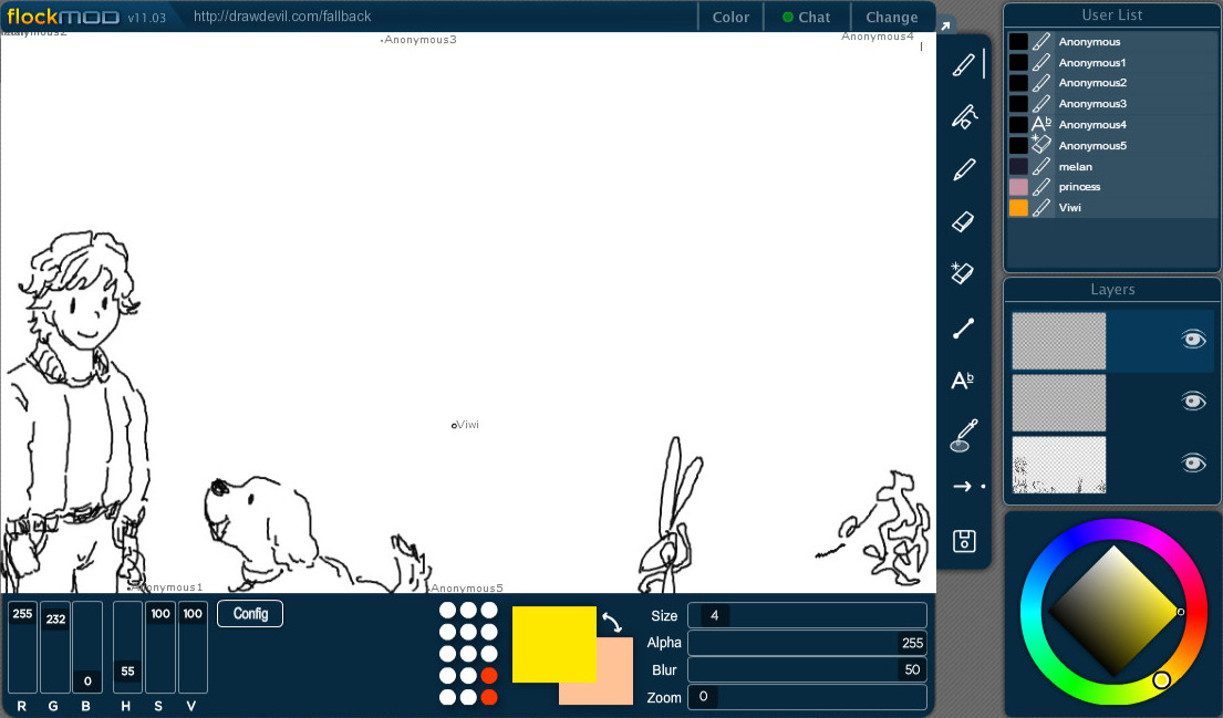 Flockmod: Interactive drawing for the modern age